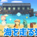 【島訪問】南国リゾートな「ミカヅキ島」の海を列車が走っていました【あつ森】