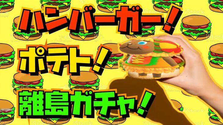 【あつ森】激レアハンバーガーを探す!超絶ジャンクフード離島ガチャ!