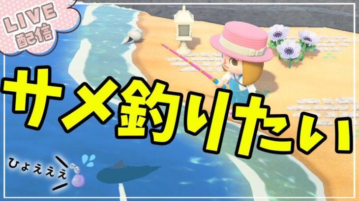 【あつ森】サメが釣れる季節がやってきた♪まだ釣れてないサメを釣りたい!!【あつまれどうぶつの森】まったりゲーム実況