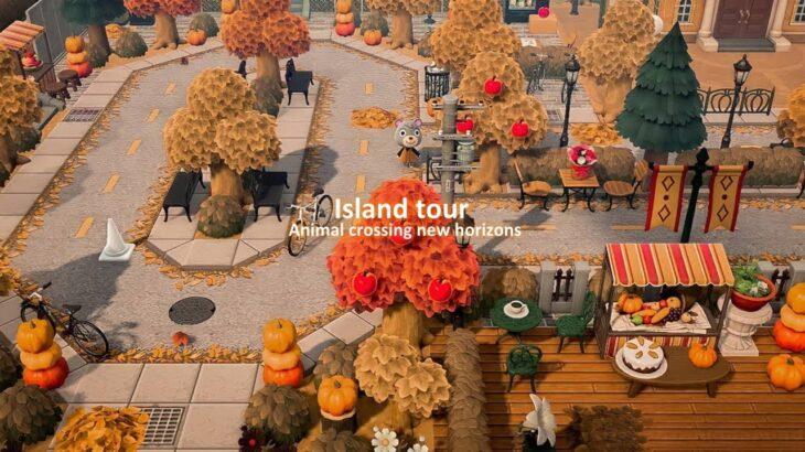 【あつ森】島紹介 赤く染まった秋の道を散歩しましょう【あつまれどうぶつの森】夢訪問